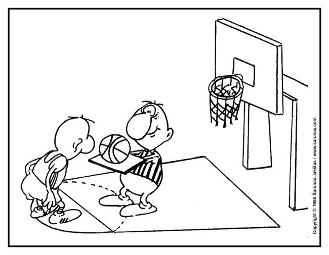 """Jakštas Šarūnas. Karikatūra, cartoon, karikaturen. Padavėjas / Waiter. (""""Švyturys"""" (1985 m., Nr. 4)). Juodas tušas / Black ink."""