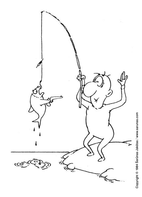 "Jakštas Šarūnas. Karikatūra, cartoon, karikaturen. Rankas aukštyn! / Hands up! (""Švyturys"" (1985 m., Nr. 17)). Juodas tušas / Black ink."
